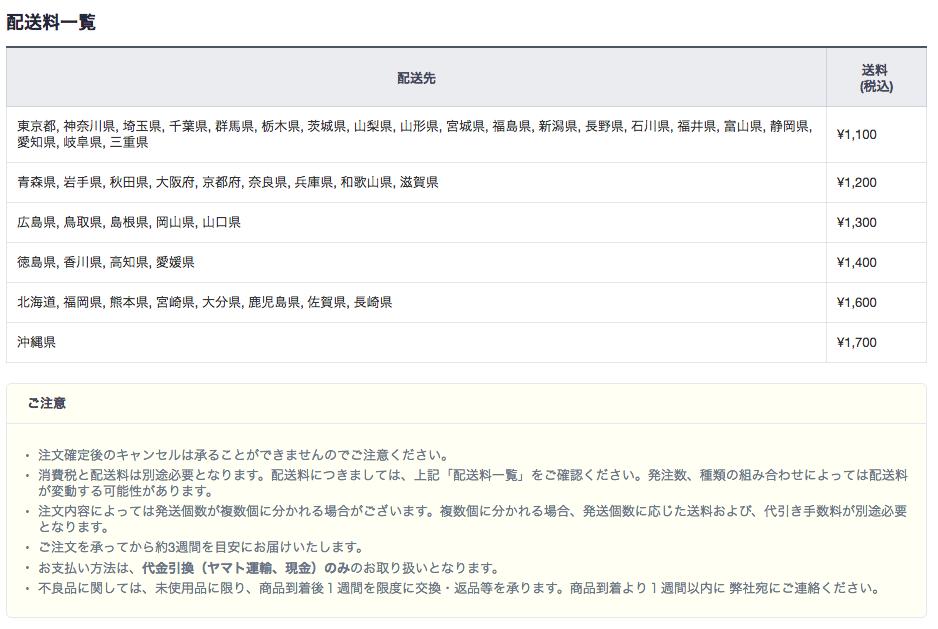 LINE@ノベルティ送料